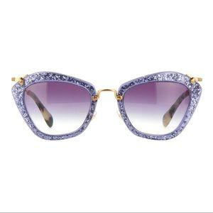 🏆LUXURY HOST PICK💎RARE MIU MIU💎 Purple glitter cateye sunglasses